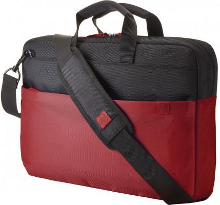 Фото - Сумка для ноутбука 15.6 HP Duotone BriefCase неопрен красный черный Y4T18AA сумка для ноутбука 15 6 hp duotone blue briefcase y4t19aa abb