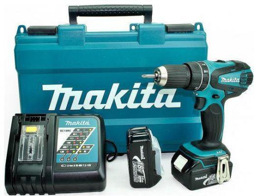 Аккумуляторная дрель-шуруповерт Makita DHP456RFE аккумуляторная ударная дрель шуруповерт makita 18v 3ah x2 case dhp456rfe
