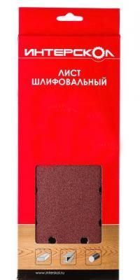 Лист шлифовальный Интерскол для Velcro k60 Al2O3 105х114мм 5шт 0800  001