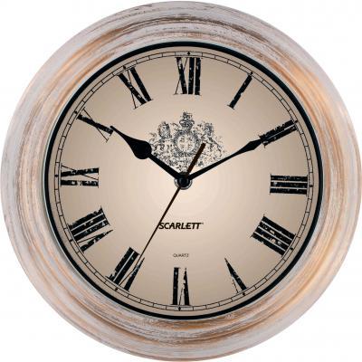 Часы настенные Scarlett SC-27B золотистый белый