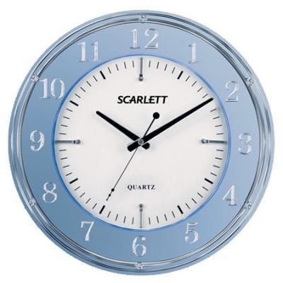 Часы настенные Scarlett SC-55DE синий
