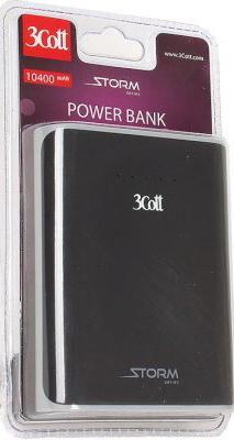 Портативное зарядное устройство 3Cott 3C-PB-104SS 10400mAh черный серый внешний аккумулятор для портативных устройств 3cott 3c pb 104ss 3c pb 104ss