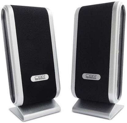 Колонки CBR CMS 299 2x3 Вт серебристо-черный