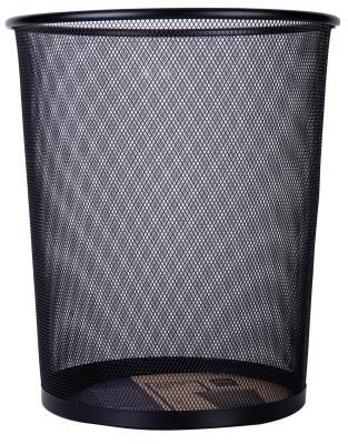 Корзина для бумаг Deli E9189 16 л круглая металлическая сетка черный недорого