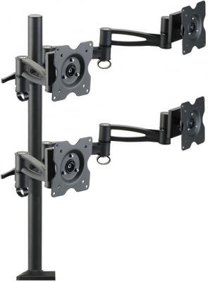 """Настольное наклонно-поворотное крепление Kromax OFFICE-4 для LCD монитора 15""""-32"""" VESA 75/100 max 4х8 кг черный кронштейн для монитора kromax office 4"""