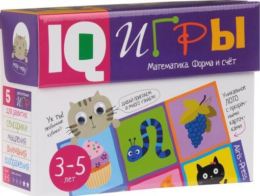 Настольная игра АЙРИС-ПРЕСС развивающая Сундучок  IQ играми. Математика. Форма  счет 25216