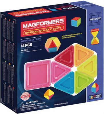 Магнитный конструктор Magformers Window Solid 14 элементов 714005 магнитный конструктор magformers space treveller set 35 элементов 703007