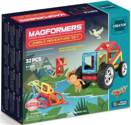 Купить Магнитный конструктор Magformers Adventure Jungle 32 элемента 703009, Магнитные конструкторы для детей