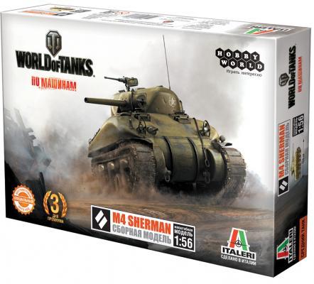 Танк Hobby World World of Tanks - M4 Sherman 1:56 зеленый world folktales