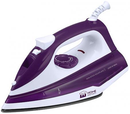 Утюг HOME ELEMENT HE-IR213 2200Вт фиолетовый белый
