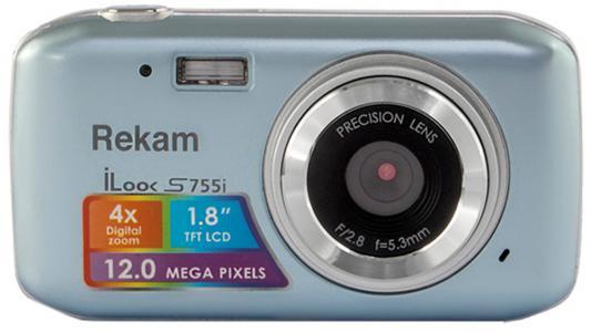 "Цифровая фотокамера Rekam iLook S755i 12 Mpx 1.8"" LCD серый металлик"