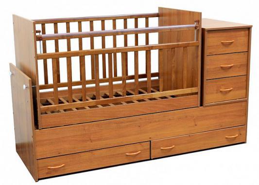 Кроватка-трансформер с маятником Топотушки Алиса (арт. 01/бук)