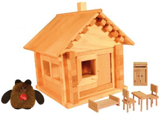 Конструктор Пелси Избушка теремок с куклой и мебелью 94 элемента