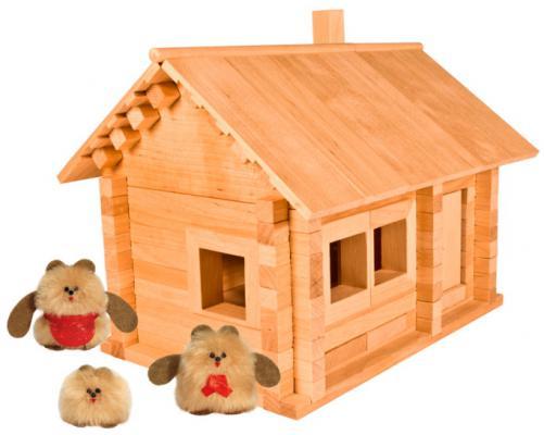 Конструктор Пелси Избушка три медведя с куклами 139 элементов
