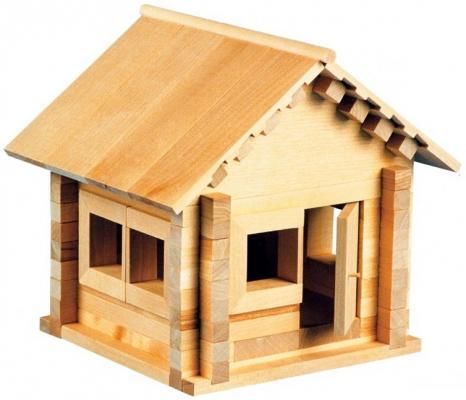Конструктор Пелси Избушка теремок 94 элемента К582 пелси пелси деревянный конструктор избушка теремок с куклой и росписью 94 детали