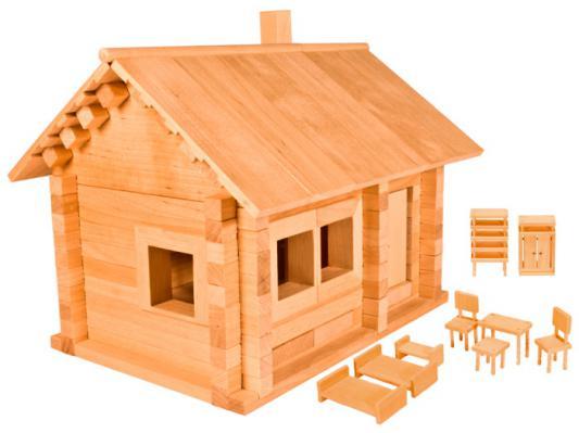 Конструктор Пелси Избушка три медведя с мебелью 139 элементов