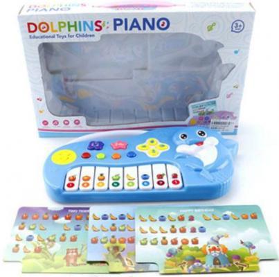 Пианино Shantou Gepai Дельфин с нотными карточками ZZ1401B