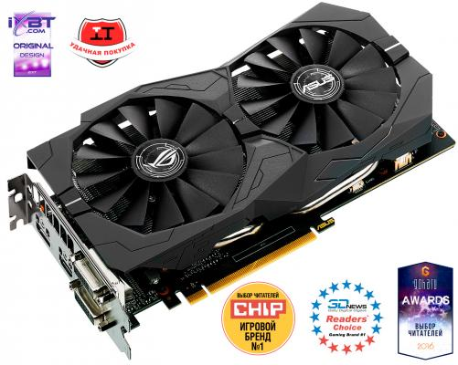 Видеокарта 4096Mb ASUS GeForce GTX1050 Ti PCI-E 128bit GDDR5 DVI HDMI DP HDCP STRIX-GTX1050TI-O4G-GAMING Retail