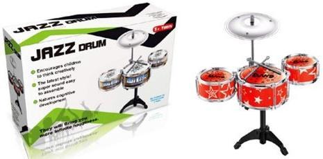 Барабанная установка Shantou Gepai Джаз-3, 3 барабана, 1 тарелка, 2 палочки в ассортименте TH688-2