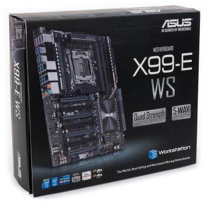 Мат. плата для ПК ASUS X99-E WS/USB 3.1 2 х Socket 2011-3 X99 8xDDR4 7xPCI-E 16x 8xSATAIII SSI CEB Retail