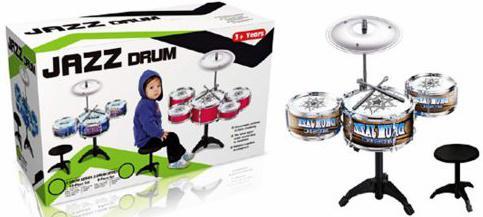 Барабанная установка Shantou Gepai Джаз-3, 3 барабана, 1 тарелка, 2 палочки, стульчик TH699-9