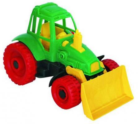 Купить Трактор Нордпласт Трактор с грейдером 27.5 см зеленый 59, Игрушечные машинки