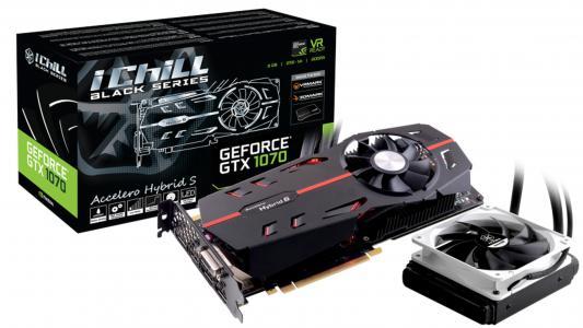 Видеокарта 8192Mb Inno3D GeForce GTX 1070 iChill Black PCI-E 256bit GDDR5 DVI HDMI DP HDCP C107B-1SDN-P5DNX Retail