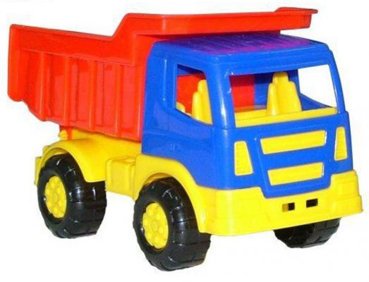 Самосвал Полесье Салют разноцветный 8946 игрушка полесье самосвал салют 8946