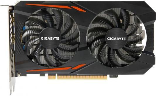 Видеокарта 4096Mb Gigabyte GeForce GTX1050 Ti PCI-E 128bit GDDR5 DVI HDMI DP HDCP GV-N105TOC-4GD Retail asus radeon rx 460 1200mhz pci e 3 0 4096mb 7000mhz 128bit dvi hdmi dp hdcp strix rx460 4g gaming