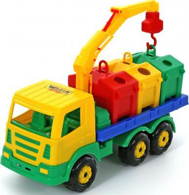 Автомобиль Полесье Престиж контейнеровоз разноцветный 42 см 44181 лесовоз полесье престиж разноцветный 42 см 44198