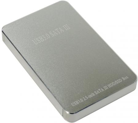 Салазки для жесткого диска (mobile rack) для HDD 2.5 SATA Orient 2568 U3 USB3.0 серебристый аксессуар контейнер для hdd orient 2564 u3