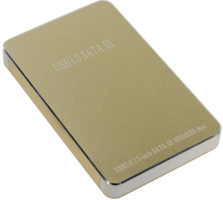 """Салазки для жесткого диска (mobile rack) для HDD 2.5"""" SATA Orient 2569 U3 USB3.0 золотистый"""