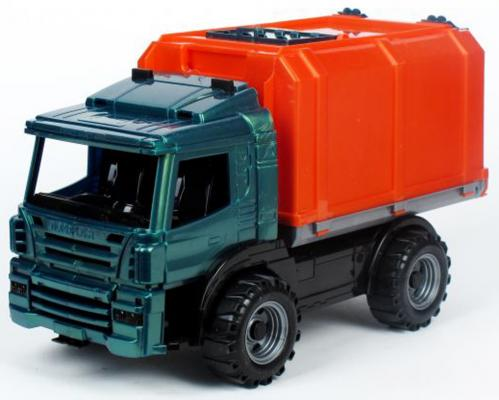 Машина Нордпласт Фургон Спецтехника оранжевый 39 см фургон нордпласт конвой зеленый 266