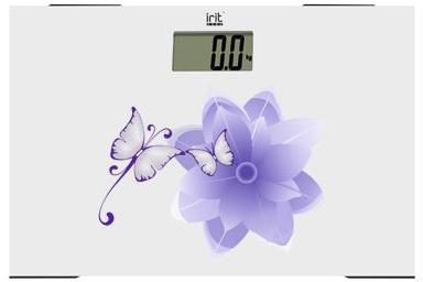 Весы напольные Irit IR-7236 белый рисунок