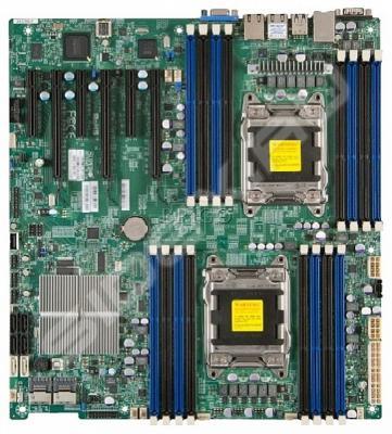Мат. плата для ПК Supermicro MBD-X9DRI-F-B с процессором Intel C602 16хDDR3 3xPCI-E 16x 3xPCI-E 8x 8xSATA II 2xSATAIII EATX
