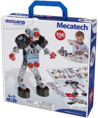 Механический конструктор Miniland Mecatech 106 элементов 95015