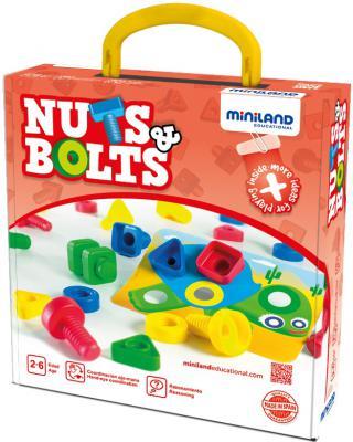 Настольная игра Miniland развивающая Гайки и болты 45303