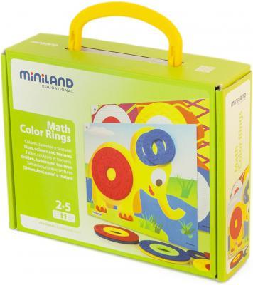 Настольная игра Miniland развивающая Цветные кольца 31796
