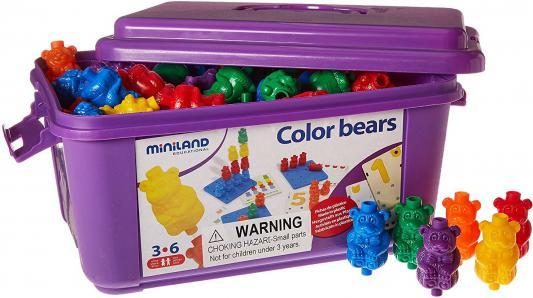 """Настольная игра Miniland развивающая Обучающий чемоданчик """"Разноцветные медвежата"""" 31786"""