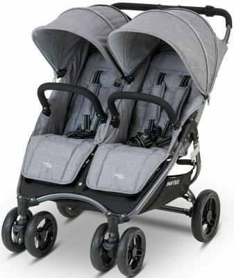 Прогулочная коляска для двоих детей Valco Baby Snap Duo Tailormade (grey marle)