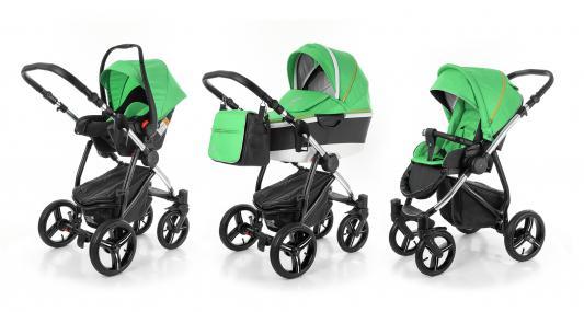 Коляска 3-в-1 Esspero Newborn Lux Alu (шасси chrome/green)