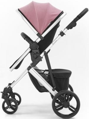 Коляска 2-в-1 Tutti Bambini Riviera (шасси silver цвет pink/plum)