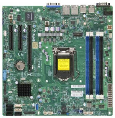 Мат. плата для ПК Supermicro MBD-X10SLL-S-O Socket 1150 C222 2xDDR3 2xPCI-E 8x 2xSATA II 2xSATAIII mATX