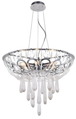 Подвесная люстра Crystal Lux Dorotea SP6 D600 Chrome