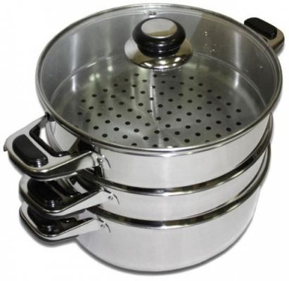Мантоварка Катунь КТ-223М 22 см 3.5 л нержавеющая сталь чайник катунь кт 106f бирюзовый 2 5 л нержавеющая сталь