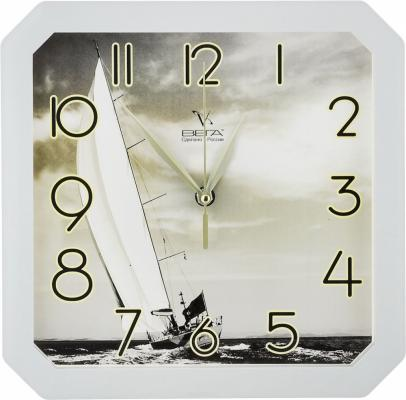 Часы настенные Вега «Парусник» белый П 4-5/7-7 часы настенные вега п 4 14 7 86 новогодние подарки