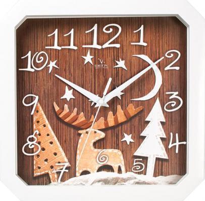 Часы настенные Вега П4-7/7-79 коричневый часы вега п4 14 7 86 новогодние подарки разноцветный