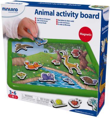 Магнитная доска Miniland Животные в лесу с магнитно-маркерной доской 97934