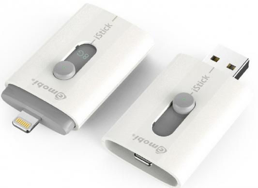 Флешка USB 8Gb PQI iStick T008L белый 608L-008GR102A картриджи для электронных сигарет clay peng mini 30 istick dna
