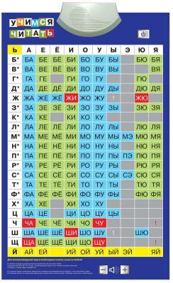 Электронный звуковой плакат Знаток Учимся читать 70035 знаток электронный звуковой плакат космос